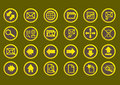 Very simple and pretty web icons Royalty Free Stock Photo