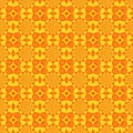 stock image of  Seamless pattern, yellow tile with red and orange ornament