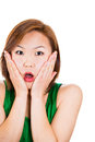 Very surprised asian woman Stock Image