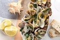 Very tasty cooked clams mediterranean diet traditional portuguese dish Stock Image