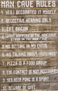 Very useful tips about man cave rules Royalty Free Stock Photo