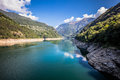 Verzasca dam Royalty Free Stock Photo