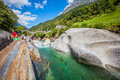 Verzasca River Royalty Free Stock Photo