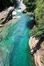 The Verzasca Valley in Tessin, Switzerland Royalty Free Stock Photo
