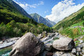 Verzasca valley Ticino Switzerland Royalty Free Stock Photo