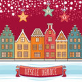 Vesele Vanoce. Christmas message. Lettering composition with phrase on Czech