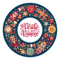 Vesele Vanoce. Xmas card on Czech language. Warm wishes for happy holidays