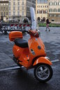 Vespa transport is a problem in italy motorcycles are one of the most popular form of transport in italy the historic centers have Stock Image