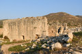 Vespasian Bath of ancient Lycian city Patara. Turkey Royalty Free Stock Photo