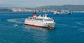 Vessel traffic in algeciras bay Royalty Free Stock Photography