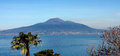 Vesuvio volcano naples italy view of the from sorrentine peninsula in the bay of in south Stock Photography