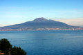 Vesuvio volcano naples italy view of the from sorrentine peninsula in the bay of in south Royalty Free Stock Photography