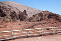 Vesuvius crater cold volcanic lava in naples italy Stock Images