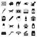 Vet icons set, simple style Royalty Free Stock Photo