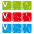 Vet Logo with dog, cat and mouse Royalty Free Stock Images