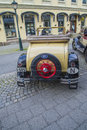 Veteran car model a ford convertible the image is shot at an exhibition in the main street in downtown halden norway Stock Photo