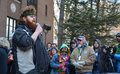 Veteran dakota serna at ann arbor hash bash mi april iraq war speaks of the benefits of marijuana in managing his ptsd the rd Stock Photos