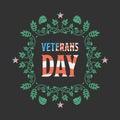 Veteran day badge