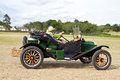 Veteran ford motorcar potten end uk july a exits the show grounds having given a public display earlier in the day at the dacorum Royalty Free Stock Photos
