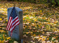 Veteran memorial gravestone Royalty Free Stock Photo
