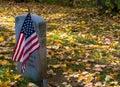 Veteran memorial gravestone Royalty Free Stock Photo