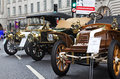 Veteran motorcar lineup london november automobiles line up in the centre of the road for public viewing at the annual regent Stock Image