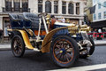 Veteran motorcar london november a automobile lines up in the centre of the road on static display for the annual regent street Royalty Free Stock Photos
