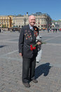 Veteran of the navy wwii moscow russia may celebration th anniversary victory day about red square Royalty Free Stock Photos