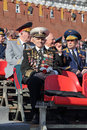 Veteran of the wwii moscow russia may celebration th anniversary victory day on red square Royalty Free Stock Images