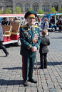 Veteran of the wwii moscow russia may celebration th anniversary victory day on red square Stock Images