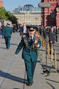 Veteran of the wwii moscow russia may celebration th anniversary victory day on red square Stock Photo