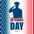 Veterans Day. American traditional patriotic holiday.