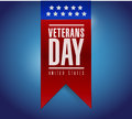Veterans day banner illustration design over a blue background Stock Photos