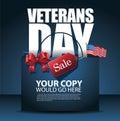 Veterans Day design Sale shopping bag Background
