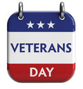 Veterans day isolated calendar icon clipping path included for easy selection Stock Photography