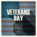 Veterans day poster with worn US flag in the