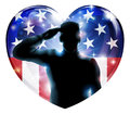 Veterans day soldier or 4th July concept Royalty Free Stock Photo