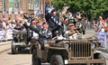 Veterans in Jeeps Royalty Free Stock Photo