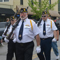 Veterans Marching in Parade Royalty Free Stock Photo