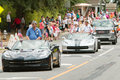 Veterans Ride In Convertibles At Old Soldiers Day Parade Royalty Free Stock Photo