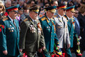 Veterans of wars colonels and generals the parade world war ii on the nevsky prospect st petersburg russia may Royalty Free Stock Image