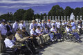 Veterans at WW II Memorial, Washington, DC Royalty Free Stock Photos