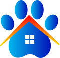Veterinary care home a vector drawing represents design Stock Photo