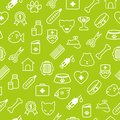 Veterinary icons seamless background in flat style