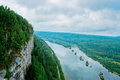 Vetlan cliff view of the vishera river from the perm krai russia Stock Images