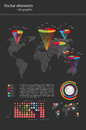Vetor infographic do detalhe mapa do mundo e informati Fotos de Stock Royalty Free