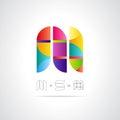 Vettore astratto logo design template Immagine Stock Libera da Diritti