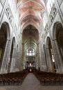 Vezelay church in burgundy from floor to ceiling Royalty Free Stock Photo