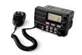 Vhf marine radio with speaker microphone in standby mode for channel Royalty Free Stock Image