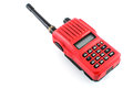 Vhf transceiver red radio on white background Stock Images